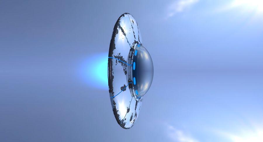UFO 외계인 우주선 royalty-free 3d model - Preview no. 10