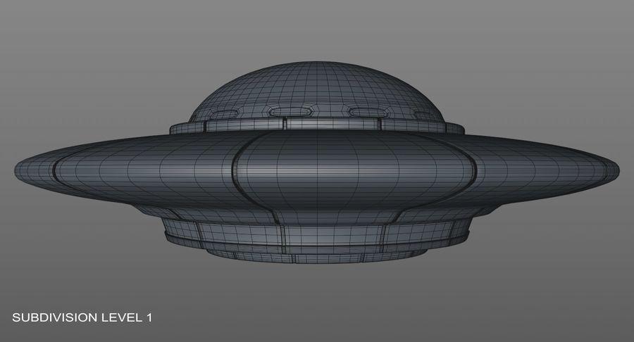 UFO 외계인 우주선 royalty-free 3d model - Preview no. 16