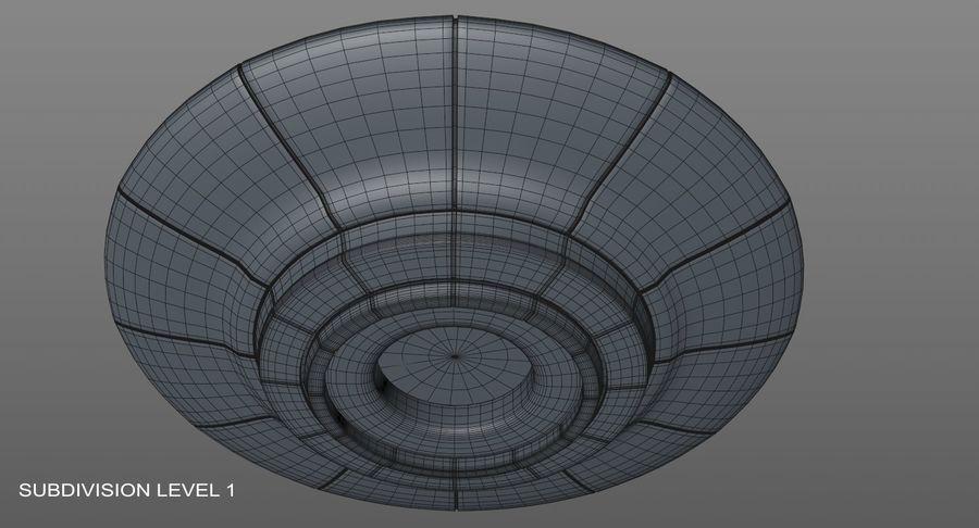 UFO 외계인 우주선 royalty-free 3d model - Preview no. 13