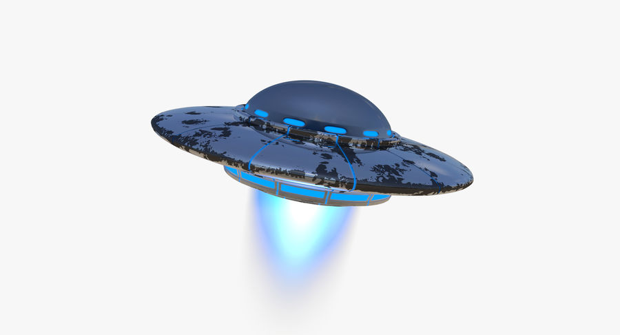 Ufoエイリアンの宇宙船 royalty-free 3d model - Preview no. 3
