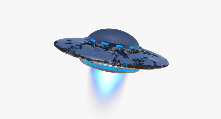 UFO 외계인 우주선 royalty-free 3d model - Preview no. 3