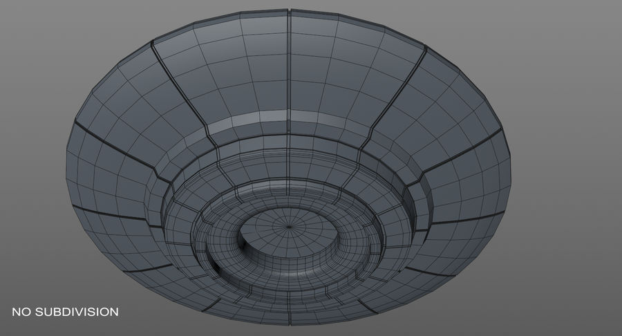 Ufoエイリアンの宇宙船 royalty-free 3d model - Preview no. 12