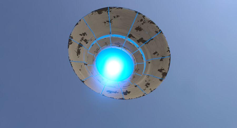 UFO 외계인 우주선 royalty-free 3d model - Preview no. 6