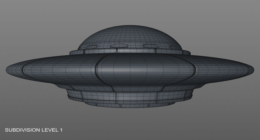 Ufoエイリアンの宇宙船 royalty-free 3d model - Preview no. 16