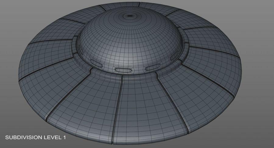 UFO 외계인 우주선 royalty-free 3d model - Preview no. 19