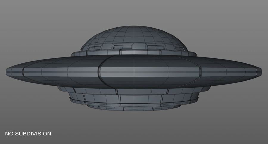 UFO 외계인 우주선 royalty-free 3d model - Preview no. 15