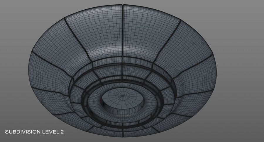 UFO 외계인 우주선 royalty-free 3d model - Preview no. 14