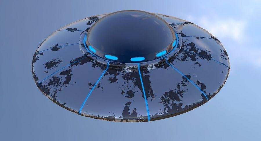 UFO 외계인 우주선 royalty-free 3d model - Preview no. 2