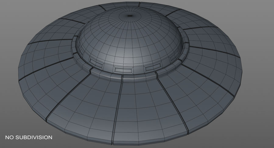 Ufoエイリアンの宇宙船 royalty-free 3d model - Preview no. 18