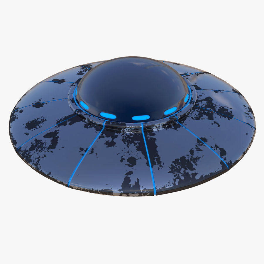 UFO 외계인 우주선 royalty-free 3d model - Preview no. 1