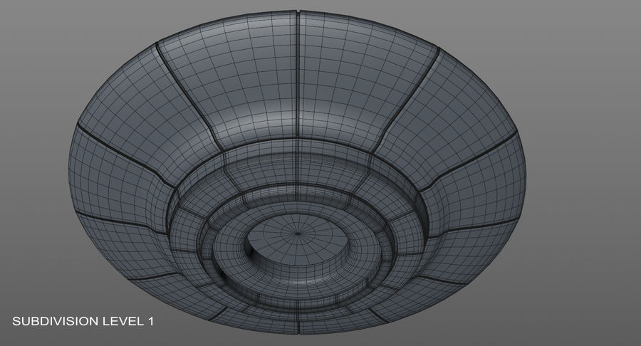 Ufoエイリアンの宇宙船 royalty-free 3d model - Preview no. 13