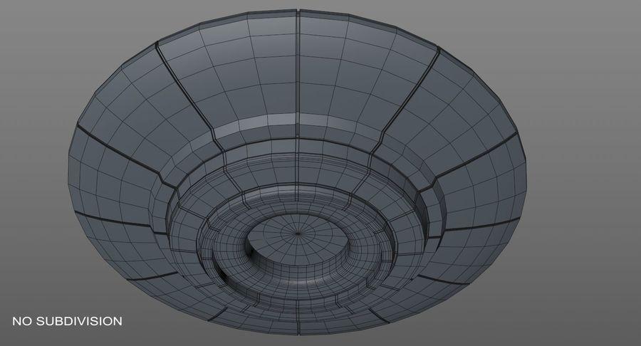 UFO 외계인 우주선 royalty-free 3d model - Preview no. 12