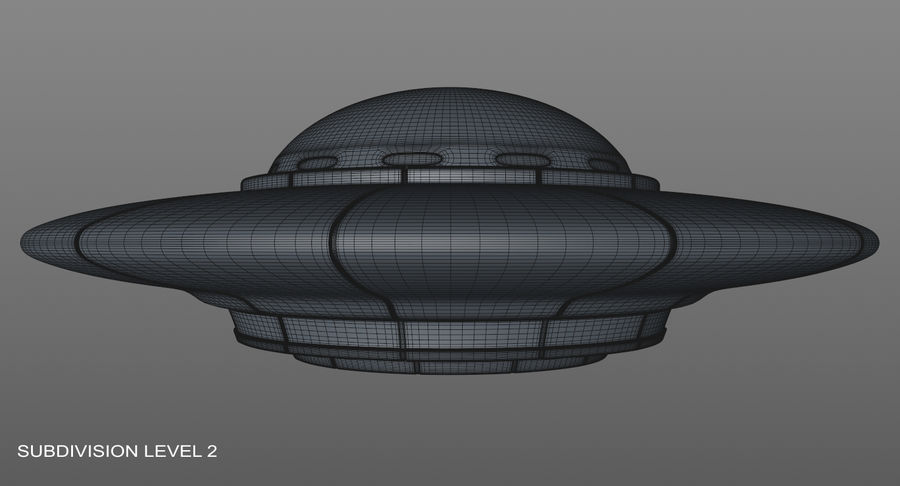 Ufoエイリアンの宇宙船 royalty-free 3d model - Preview no. 17