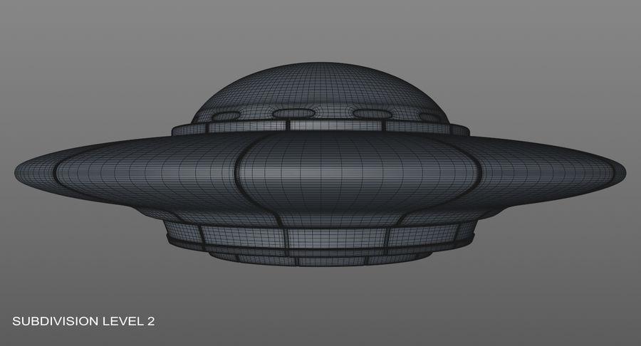 UFO 외계인 우주선 royalty-free 3d model - Preview no. 17