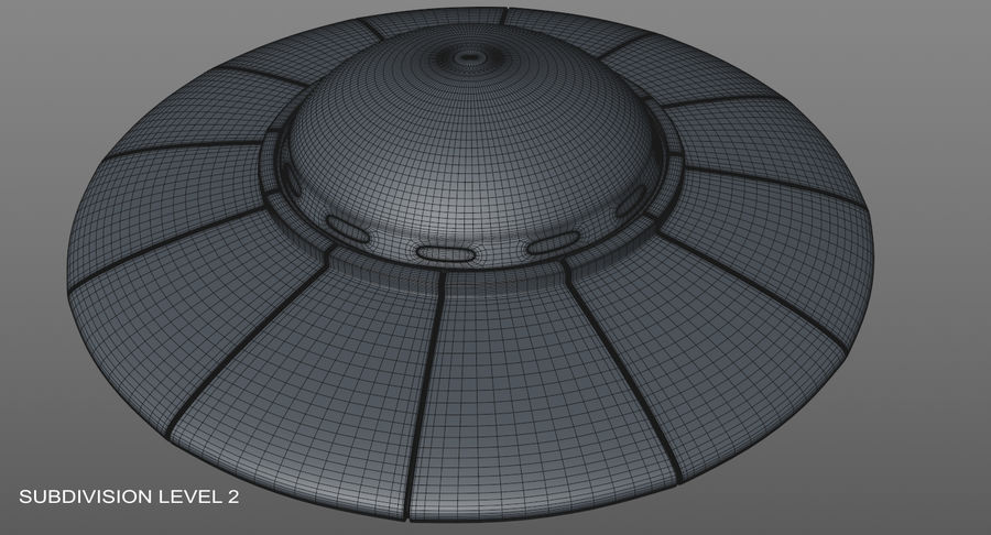 UFO 외계인 우주선 royalty-free 3d model - Preview no. 20