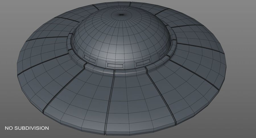 UFO 외계인 우주선 royalty-free 3d model - Preview no. 18