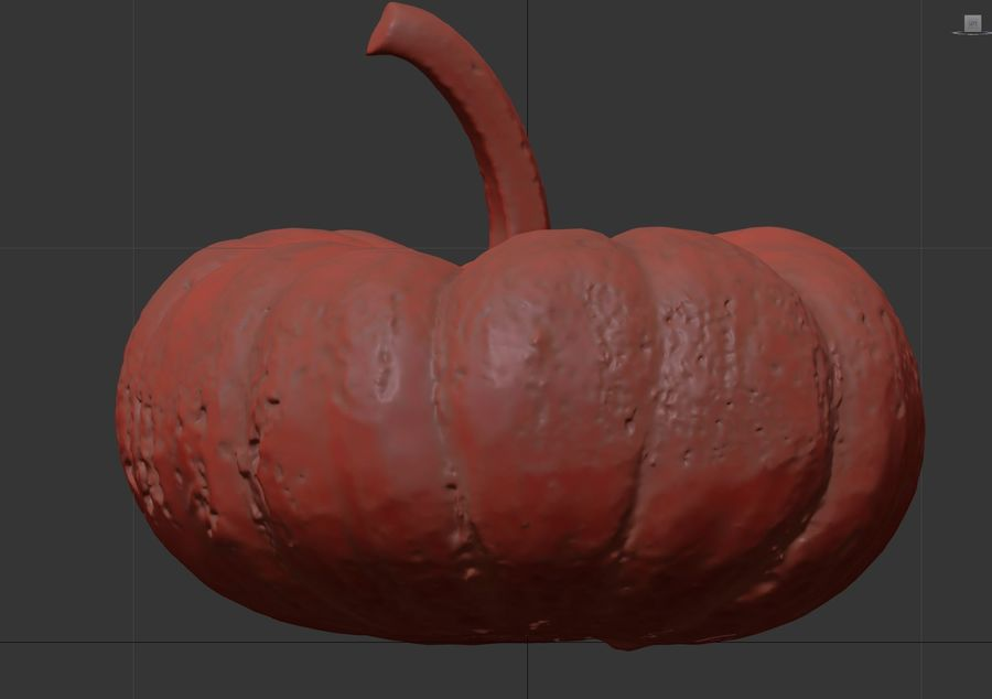 Small Pumpkin royalty-free 3d model - Preview no. 6