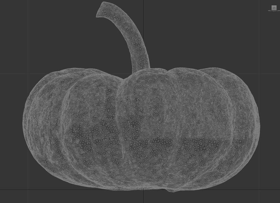 Small Pumpkin royalty-free 3d model - Preview no. 7