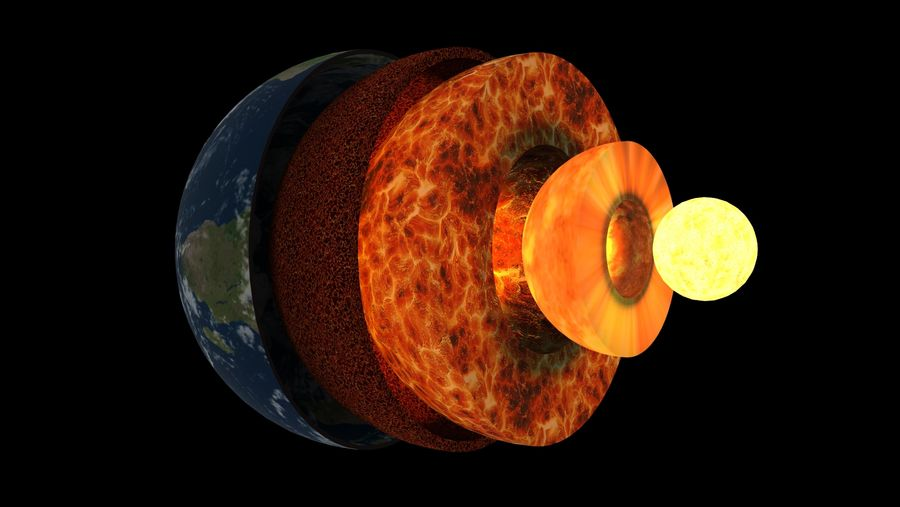 Earth Structure animation royalty-free 3d model - Preview no. 1