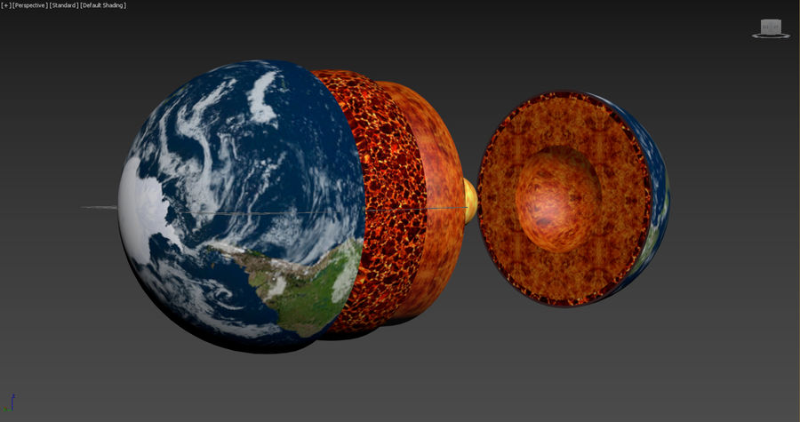 Earth Structure animation royalty-free 3d model - Preview no. 6