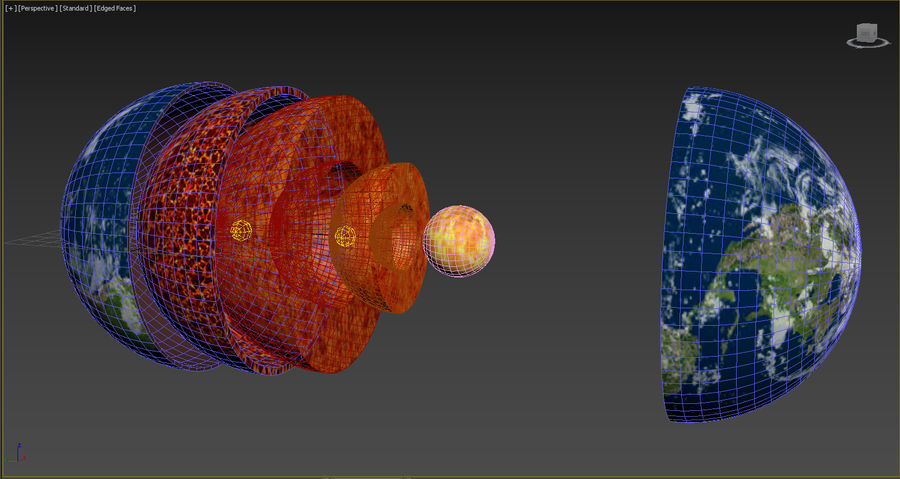 Earth Structure animation royalty-free 3d model - Preview no. 4