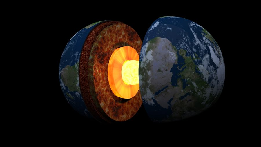Earth Structure animation royalty-free 3d model - Preview no. 2