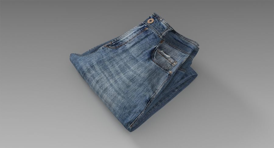 Jeans royalty-free 3d model - Preview no. 8