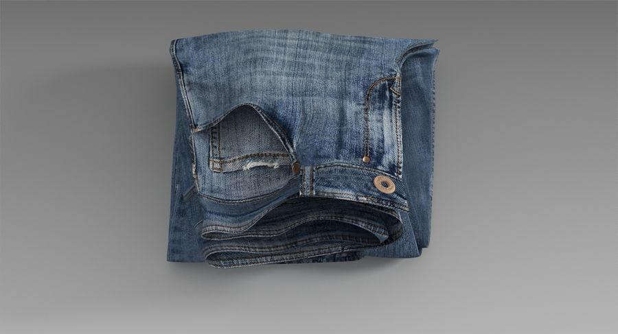Jeans royalty-free 3d model - Preview no. 6