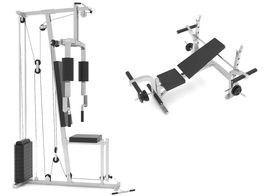 Equipos de gimnasio royalty-free modelo 3d - Preview no. 2