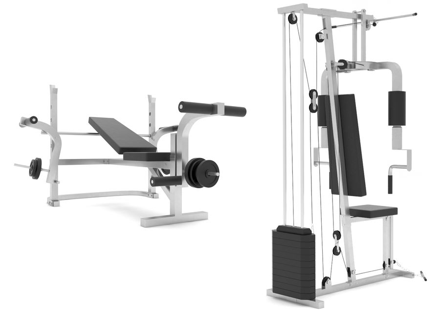 Equipos de gimnasio royalty-free modelo 3d - Preview no. 3