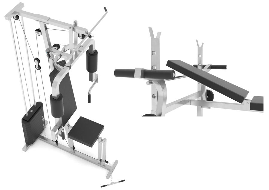 Gym equipments royalty-free 3d model - Preview no. 4
