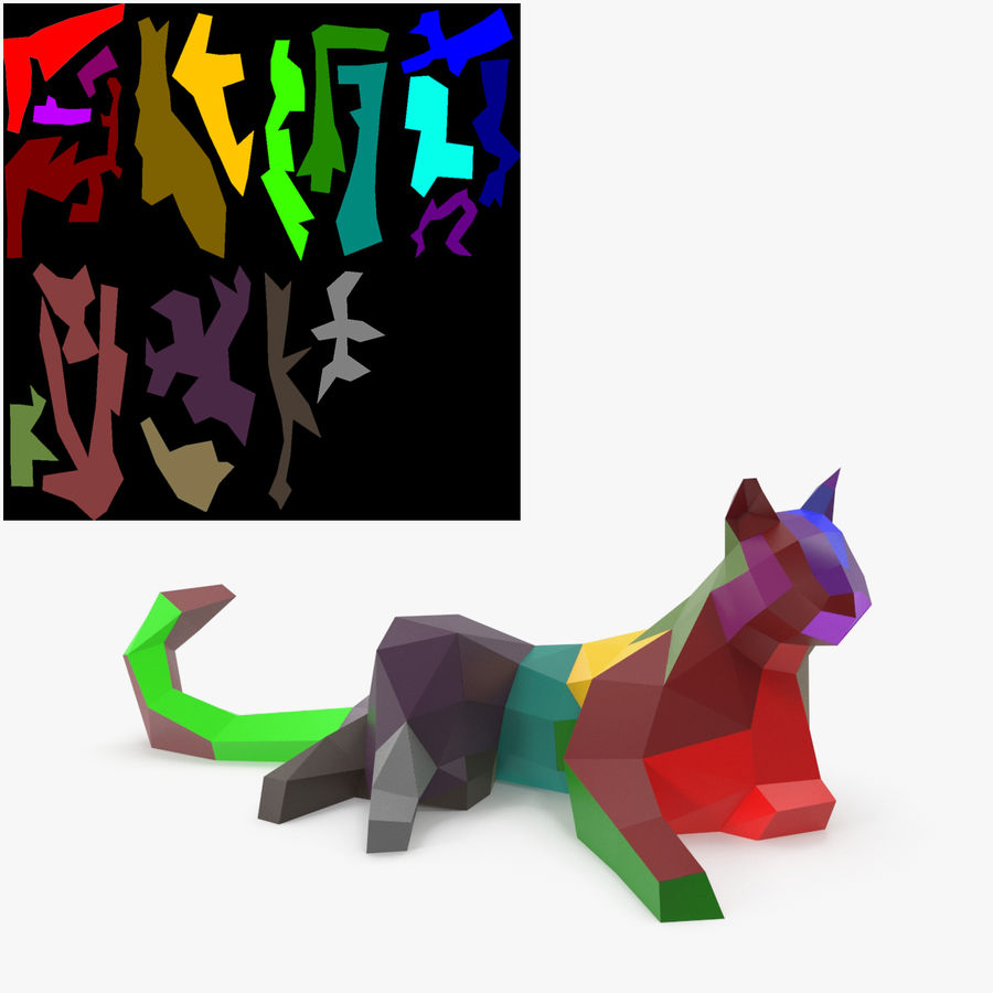 Chat papercraft royalty-free 3d model - Preview no. 8