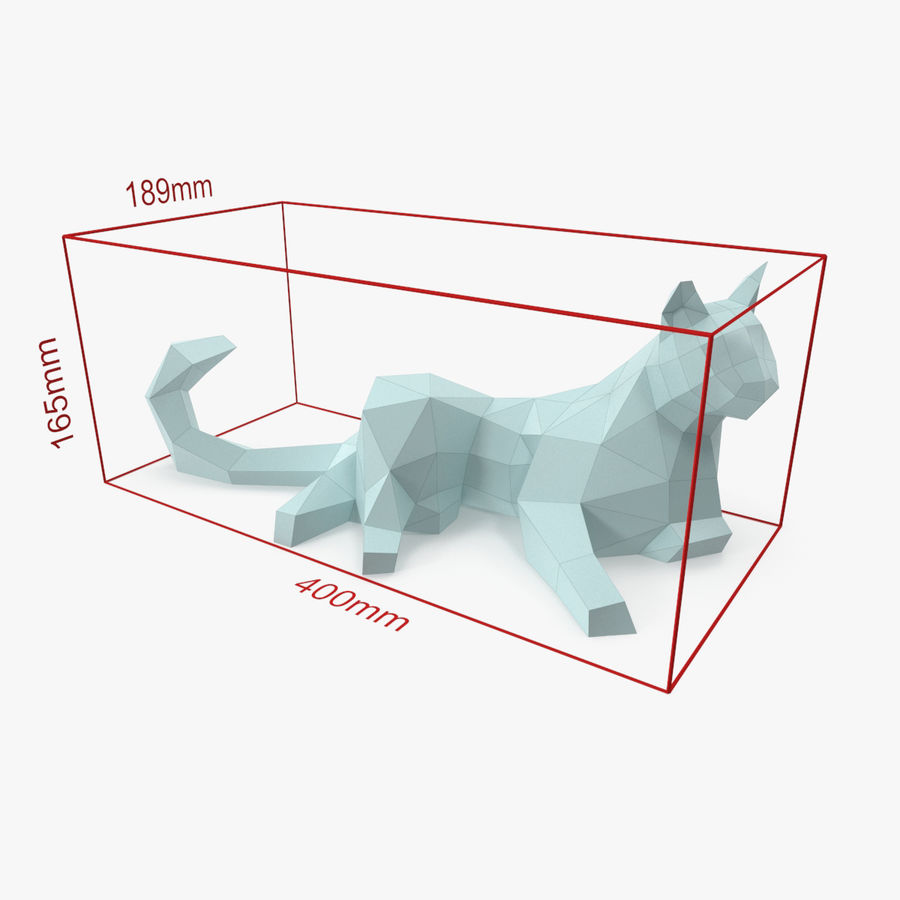 Chat papercraft royalty-free 3d model - Preview no. 7