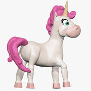 Cartoon-Einhorn 3d model