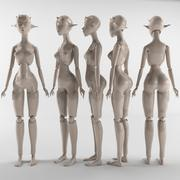 Elf-kız 3d model