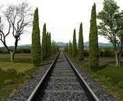 Järnväg 3d model
