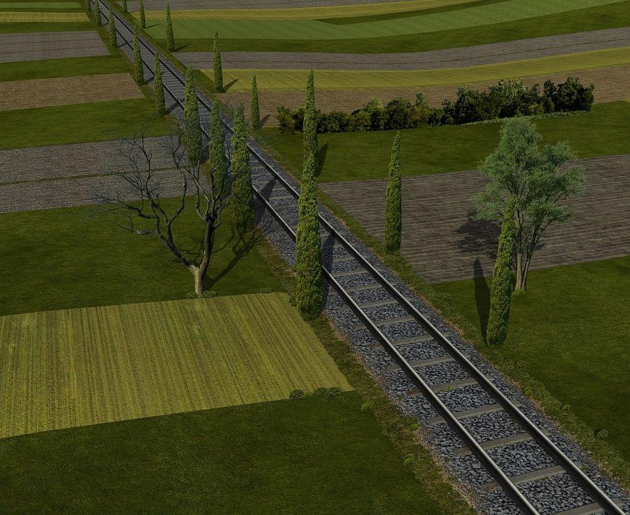 Järnväg royalty-free 3d model - Preview no. 4