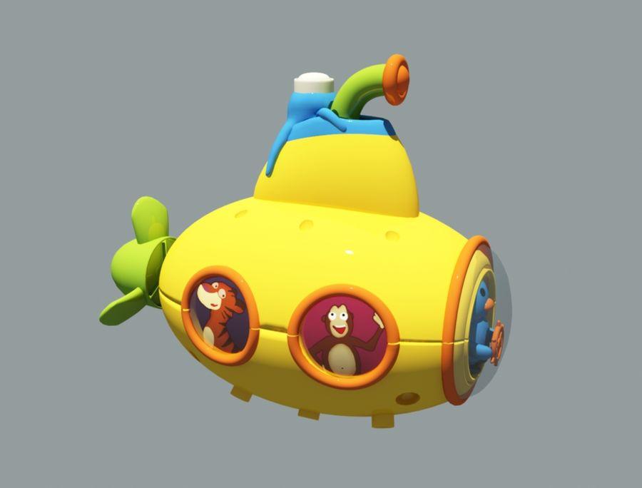 statek kosmiczny zabawka royalty-free 3d model - Preview no. 3