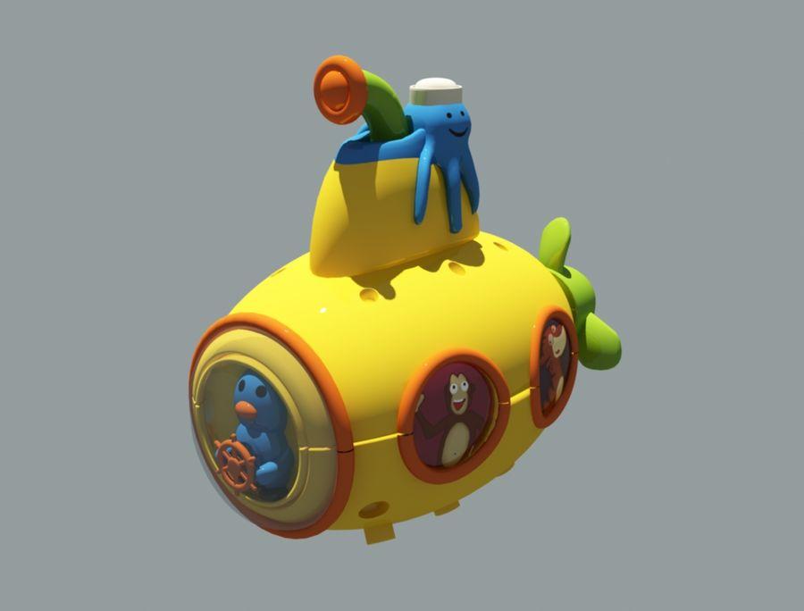 statek kosmiczny zabawka royalty-free 3d model - Preview no. 1