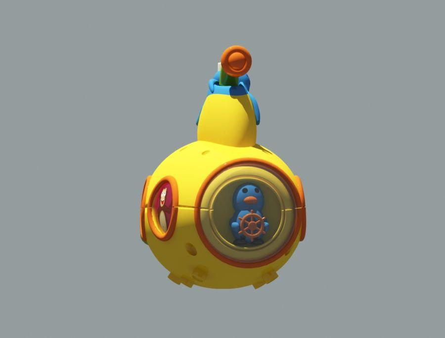 statek kosmiczny zabawka royalty-free 3d model - Preview no. 2
