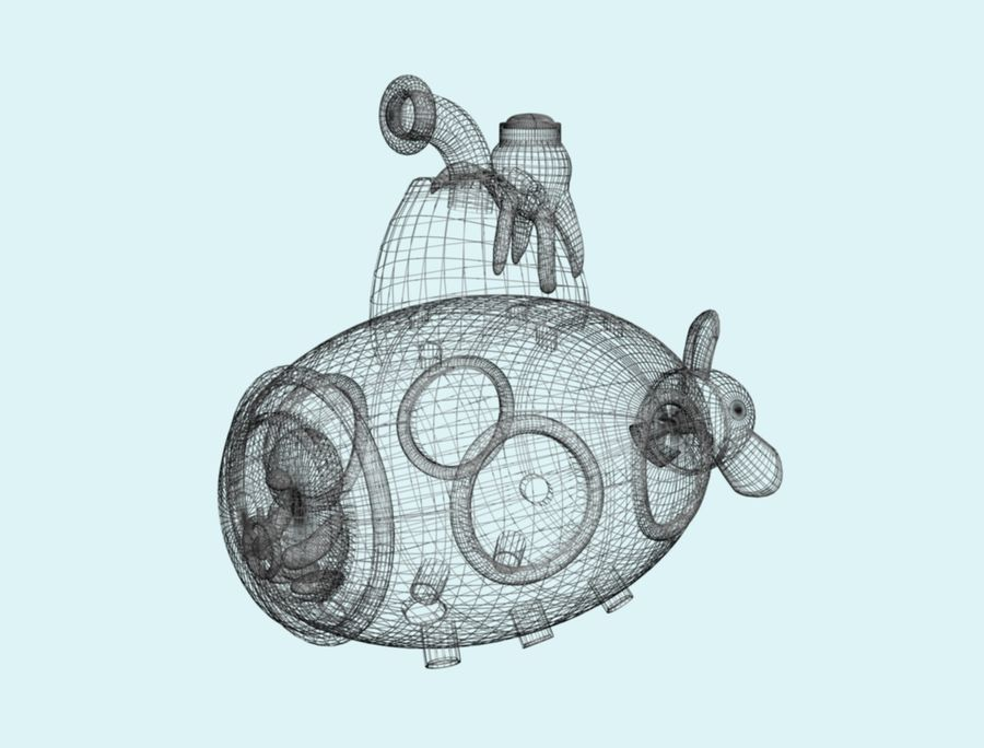 statek kosmiczny zabawka royalty-free 3d model - Preview no. 6