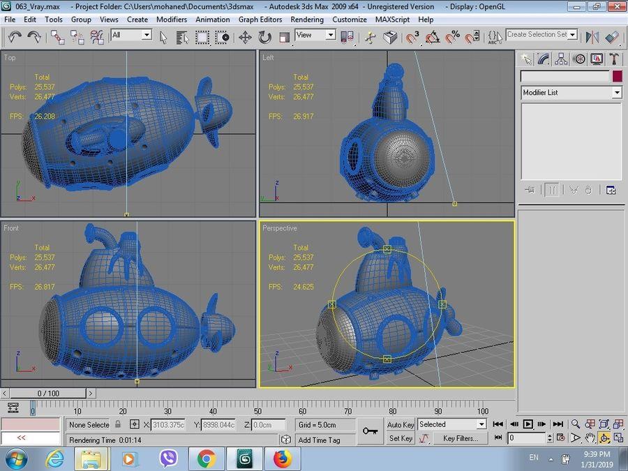 statek kosmiczny zabawka royalty-free 3d model - Preview no. 9