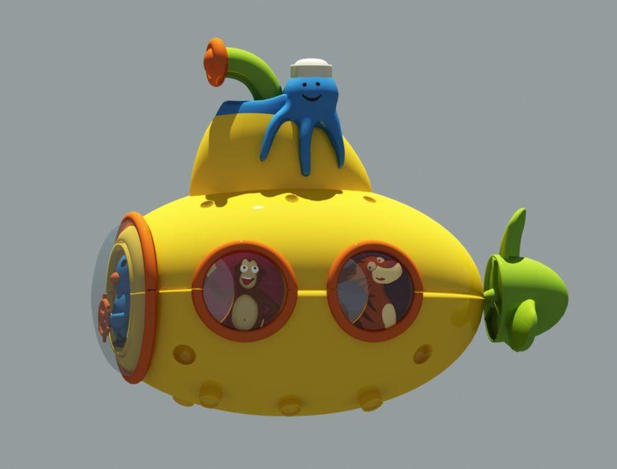 statek kosmiczny zabawka royalty-free 3d model - Preview no. 4