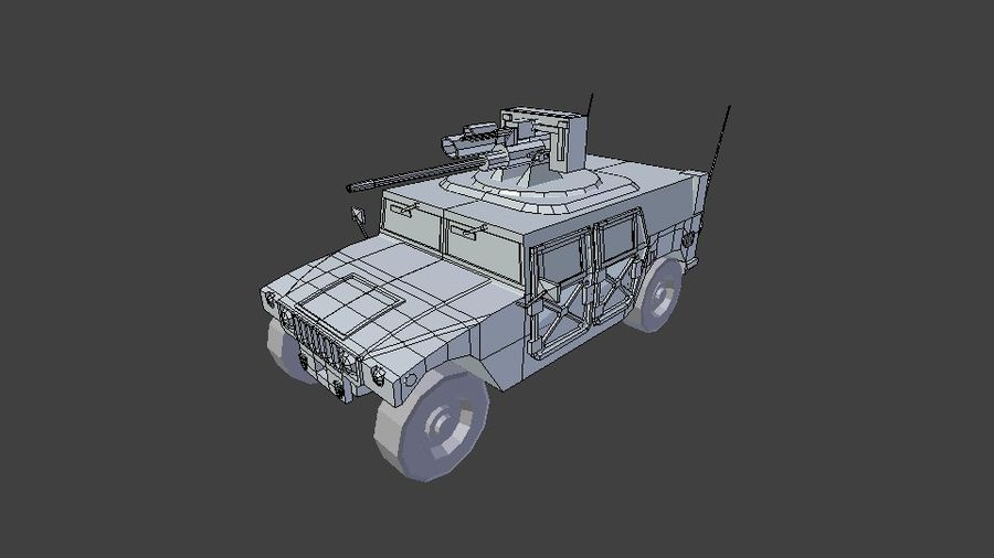 HUMVEE M242 royalty-free 3d model - Preview no. 6