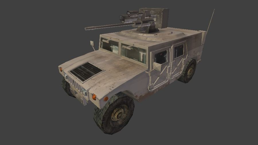 HUMVEE M242 royalty-free 3d model - Preview no. 4