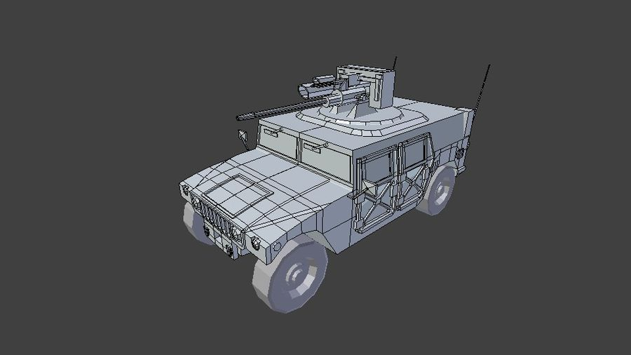 HUMVEE M242 royalty-free 3d model - Preview no. 9