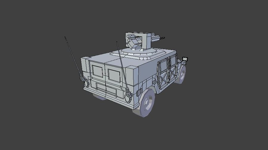 HUMVEE M242 royalty-free 3d model - Preview no. 7