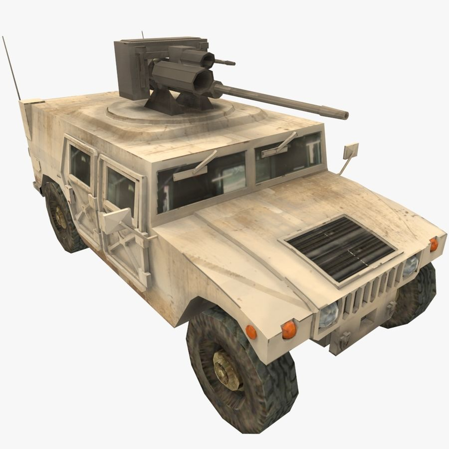HUMVEE M242 royalty-free 3d model - Preview no. 2