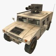 HUMVEE M242 3d model