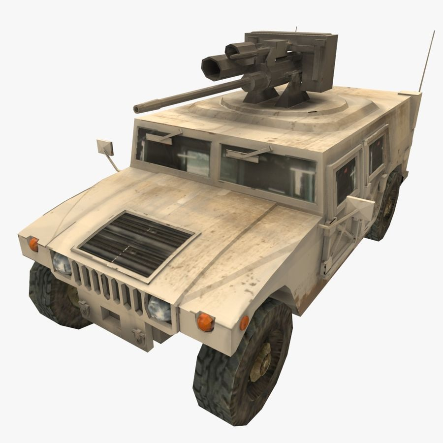 HUMVEE M242 royalty-free 3d model - Preview no. 1